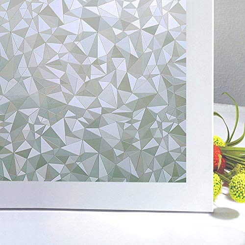 Multi-maten Privacy Window Film, 3D Diamond Decorative Windows Cling Stained Glass Film voor thuis en op kantoor Anti UV-raambekleding, 60 x 100 cm