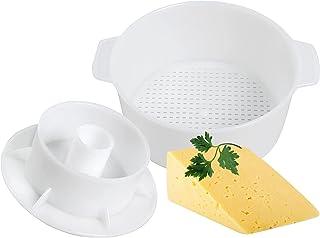 チーズ作りキット バターパンチ型 コーヒー型 プレスストレーナー チーズ フォロワーピストン付き 1,2リットル 豆腐プレス型 チーズ作りキット マシン