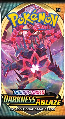 Pokemon TCG Sword & Shield: Darkness Ablaze Booster Pack (Single Pack Supplied)