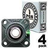 PGN - UCF204-12 Pillow Block Square Flange Mounted Bearing 3/4' Bore (4 PCS)