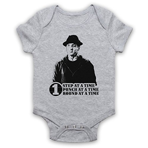 Creed Rocky One Step at A Time One Round One Punch Bebe Barboteuse Body, Gris, 12-18 Mois