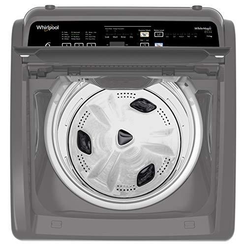 Whirlpool 7.5 Kg 5 Star Fully-Automatic Top Loading Washing Machine (WHITEMAGIC ELITE 7.5, Grey, Hard Water Wash)