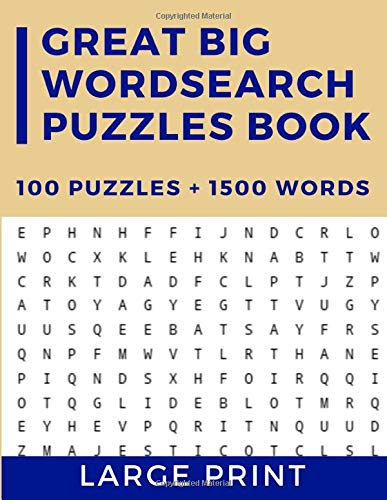 Great Big WordSearch Puzzles Book: 100 Entertaining Themed Word searches | Large Print Word Search for Teens and Adults |+1500 Word Brain Games!