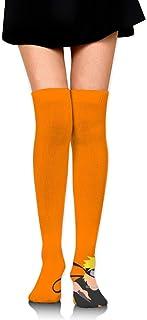 Smalaty, Calcetines de compresión para mujer de Nar-uto, cálidos, largos, deportivos.