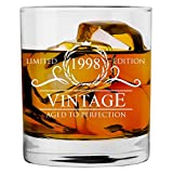 1998 22nd Birthday Gifts for Women and Men Whiskey Glass | Funny Vintage 22 Year Old | Anniversary...