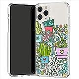 Lex Altern TPU Coque pour iPhone Apple 11 Pro XS Max XR 8 X 7 Plus 6s 5 Souple Motif Plantes d'intérieur Pot Vert Floral Case Étui Transparente Kawaii Fin Doux Léger Téléphone Mignon Feuilles uk0043