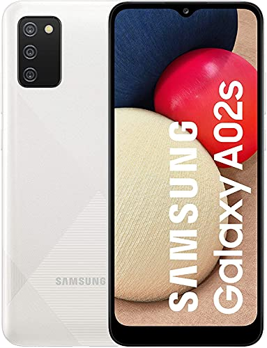 Samsung Smartphone Galaxy A02s 4G 6.5 Pollici Infinity-V HD + 3 Fotocamere Posteriori, 3GB RAM e 32GB di Memoria Interna Espandibile – Batteria 5.000 mAh e Ricarica Rapida Bianca [Versione Italiana]