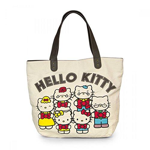 Hello Kitty Sac fourre-Tout 40e Anniversaire sur Toile Imitation Neuf Santb1404
