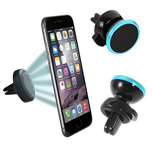 N4U ONLINE® Premium Lüftungsschlitz Magnet Auto Halterung für HTC One Mini Blau
