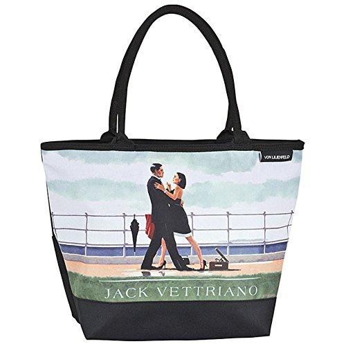 VON LILIENFELD Tasche Damen Henkeltasche Shopper Bedruckt Motiv Kunst Jack Vettriano: Walzer zum Jahrestag