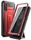 SUPCASE Cover Samsung A50 Custodia Rigida 360 Protezione per Display Integrata [Unicorn Beetle PRO] Rugged Case per Galaxy A50/A30s/A50s, Rosso