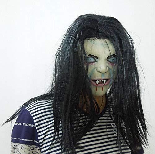 SAILORMJY Maske Halloween, Cosplay Maske,Halloween Cosplay Kostüm Maske Erwachsenen Latex Gesichtsmasken Kostümparty Merchandise Zubehör Weibliche Geistermaske