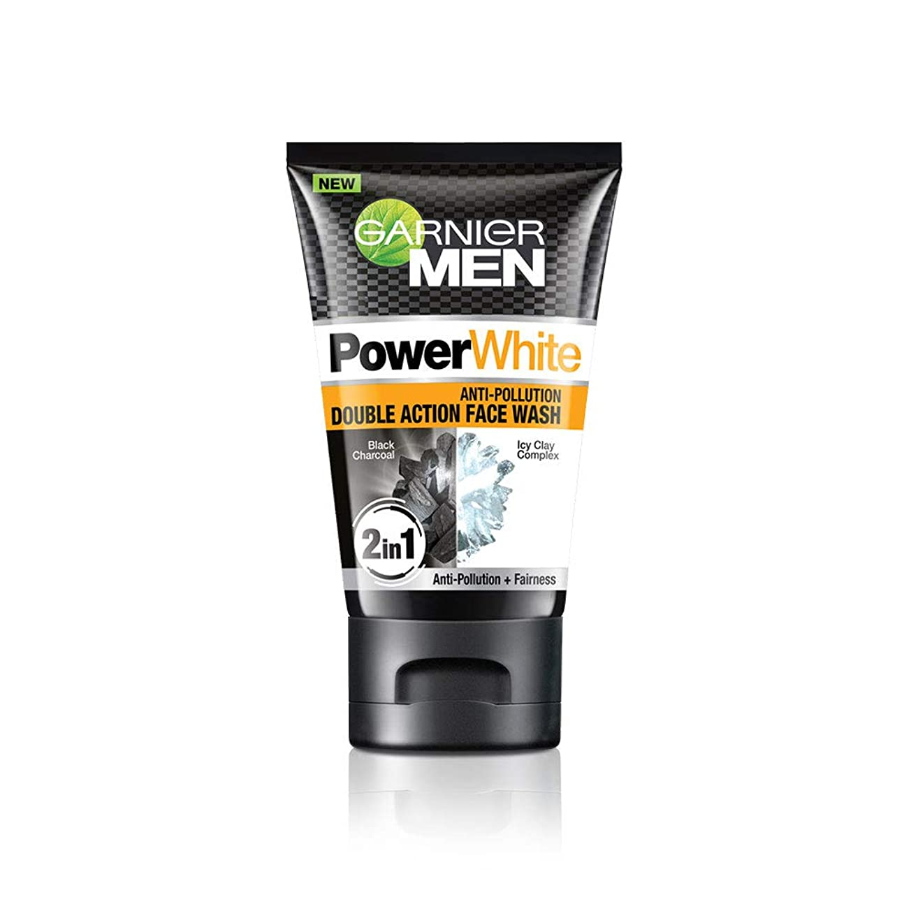 ウール元気キャラクターGarnier Men Power White Anti-Pollution Double Action Facewash, 100gm