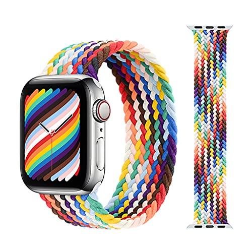 Correa Compatible con Apple Watch 40mm 38mm para Mujeres/Hombres, Correa de reemplazo Elegante de Nylon Ajustable del Estiramiento para el Reloj de Apple SE/IWatch Series 6 5 4 3 2 1