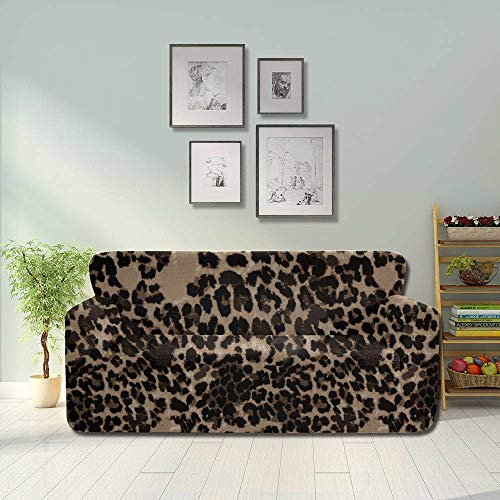 Colorful Animal Leopard Print Non Slip Sofa Cover Sofa Couch Cover Fitted Furniture Protector 2&3 Seat Sofas