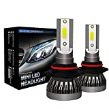 Kit de conversión de faros LED Super brillante linterna LED Faro de conversión Kit bombilla LED 9006 for el coche faros de alta luz de carretera y luces de niebla, 36W 4000LM 6000K Negro Shell de alum