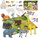 Tacobear Creativi Gioco Animali Figure per Pittura Animali Giochi Pittura Kit Giochi Creativi DIY Animali Figure Kit Lavoretti Creativi Regalo Compleanno Natale per Bambini 4 5 6 7 8 9 Anni