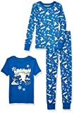 Spotted Zebra Boys' Infant Disney Star Wars Marvel Snug-Fit Cotton Pajamas Sleepwear Sets, 3-Piece Frozen ARGHH, 18 Months