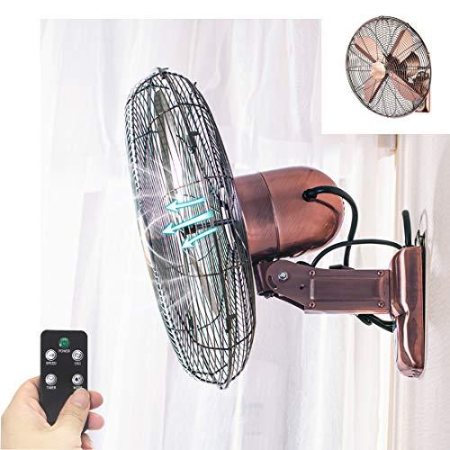 XYNH Wandventilatoren Aeg Mit Fernbedienung | Ventilators Oszillation Mit 3 Geschwindigkeitsstufen | Schön Leise | Design Retro | Wand Ventilator 50 cm Fan