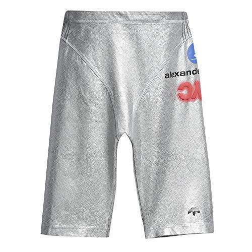 adidas Mujer Silver Shorts Pantalones Cortos Mujer Plateado, XS