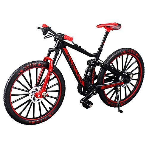 シンプルチョコ 自転車 おもちゃ 玩具 ハンドル 3色 MTB マウンテンバイク 模型 1/10 (レッド)