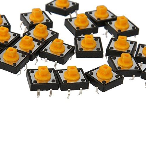 20Stk. / Packung Taktile Taster Momentane SMD Schalter 12x12x7.3mm Farbwahl - Gelb