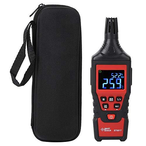 Digitales Hygrometer-Thermometer, ST 6817 Hand-Temperatur-Feuchtigkeits-Tester, mit digitalem LCD-Display, Celsius/Fahrenheit-Umrechnung, für die Labor-Farm-Lagerraumfamilie
