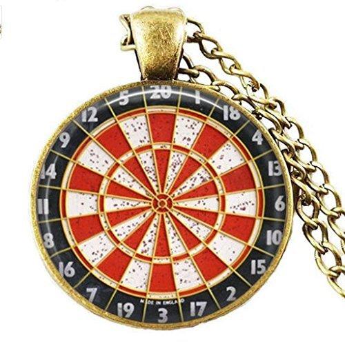 Vintage Dartscheibe Darter, Halskette, Schmuck, Anhänger, Dart Target Halskette, Dart Sport Anhänger