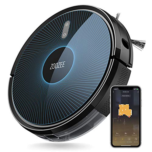 ZOOZEE Z50 Robot Vacuum Cleaner 2-in-1 Vacuum and Mop 5200mAh LG Battery 3000Pa Max Suction Works with Alexa & Siri Automatic Recharge Robotic Vacuum Cleaners Good for Pet Hair, Hard Floor, Carpet