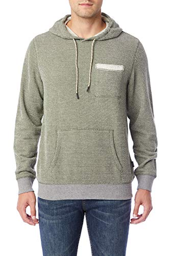 UNIONBAY Men's Long Sleeve French Terry Pullover Hoodie Sweatshirt, Kale, Medium