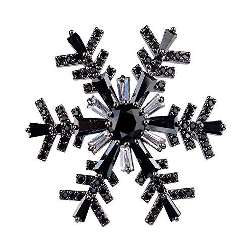 Ropa Decorativa Negro del Copo de Nieve Bajo Clave Versátil Chal Hebilla...