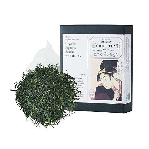 Te verde matcha y sencha - Te verde matcha y sencha de CHILL TEA Tokyo - LIBRES DE PLASTICO bolsas de te - Fresco sabor umami (30 Bolsitas)