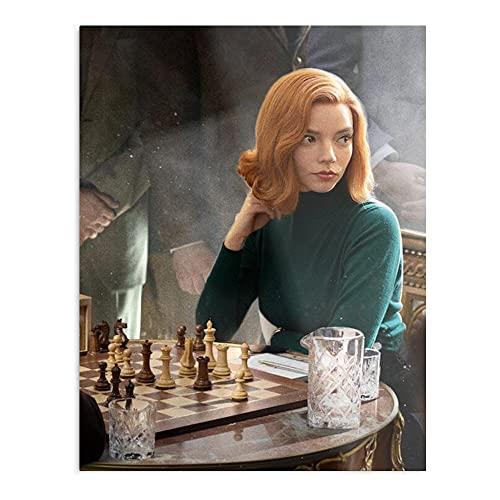 The Queen's Gambit Anya Taylor - Póster de decoración de interior más impresionante y elegante disponible actualmente