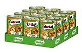 Kitekat Katzenfutter Nassfutter Geflügel & Wild in Gelee, 12 Dosen (12 x 400g)
