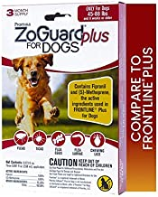 ZoGuard Plus Flea and Tick Prevention for Dogs, Large, 45-88 lbs