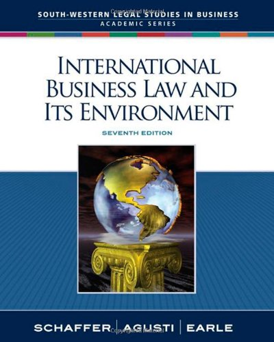 International Business Law and Its Environment...