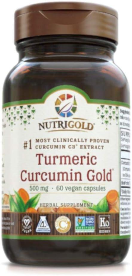 Nutrigold New arrival Turmeric OFFicial Curcumin Gold 500 milligrams Capsul 60 Vegan