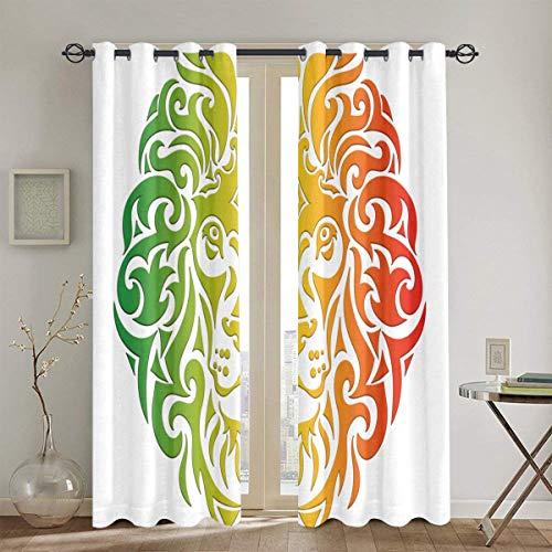cortinas dormitorio rey leon