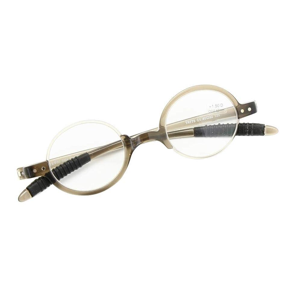 小屋教義不十分ベンドブルリーディンググラスクラシックレトロラウンドフレームフレキシブルポケットリーダーNerd Geek老眼鏡+1.0?+3.5ソフトケース