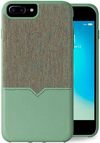 Evutec Compatible with iPhone 6 Plus/6s Plus/7 Plus/8 Plus Unique Heavy Duty Case Premium Leather + TPU Shockproof Interior Slim Protective Phone Cover- Chroma/Sage with AFIX+ Vent Mount