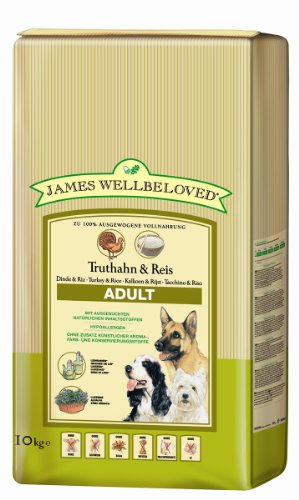 James Wellbeloved Trocken Truthahn und Reis Adult 10 kg, 1-er Pack (1 x 10 kg)