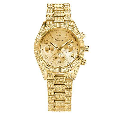 DSNGZ orologio da polso Orologio da uomo in lega con orologio da uomo British Tide incrostato di diamanti