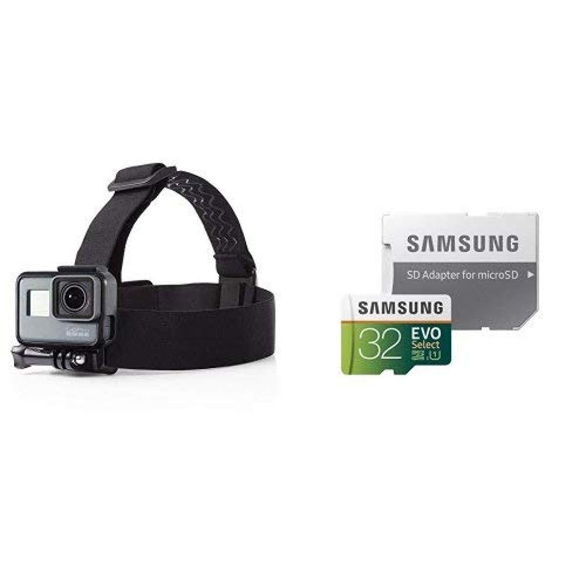AmazonBasics Head Strap Camera Mount for GoPro and Samsung 32GB 95MB/s (U1) MicroSD
