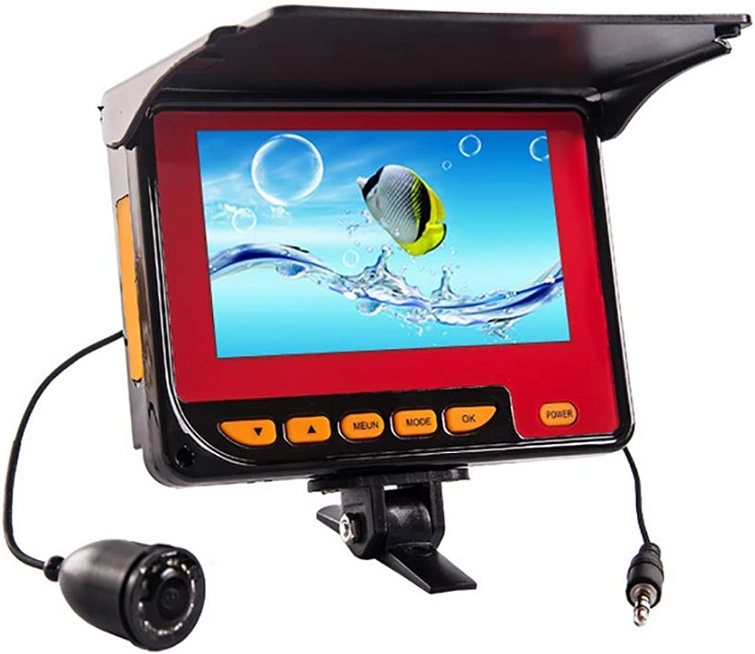 Portable Fish Finder,Fishing Camera HD Waterproof 20m Cable 4000MA Lithium Battery Rechargeable,for Ocean Boat Kayak Fishing