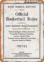 公式バスケットボールルール 金属板ブリキ看板警告サイン注意サイン表示パネル情報サイン金属安全サイン