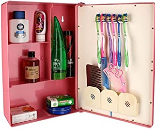 Victor Enterprises Fantasy Mirror Bathroom Cabinet (Pink)