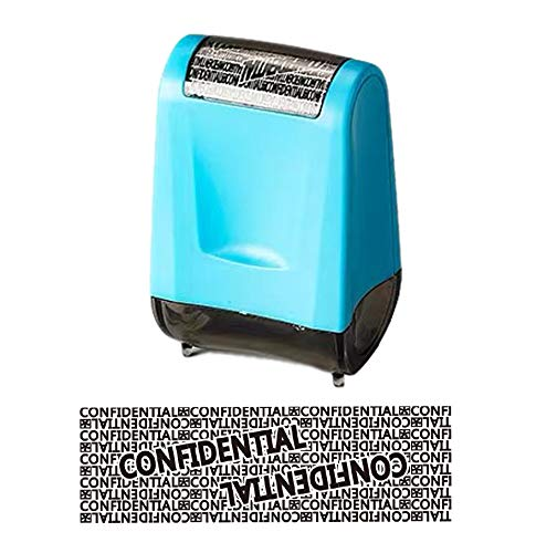 WAFJAMF Roller Stamp Identity Theft Stamp Perfect for Privacy Protection (Blue)