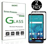 RKINC Screen Protector for LG Stylo 4, Full Coverage Tempered Glass Screen Protector [2.5D Round Edge][9H Hardness][Crystal Clear][Scratch Resist] forLG Stylo 4(2 Pack, Black)