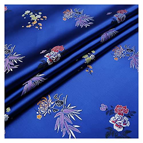 VIAIA Material de Tela Brocado con Hermoso patrón de Flores DIY Vestido de Costura cosechas (Color : 2, Tamaño : 50x75cm)