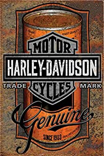 UNiQ Designs Vintage Tin Signs Oil Can to Compliment Harley Davidson Motorcycles Garage Decor Retro Garage Poster Bar Wall...